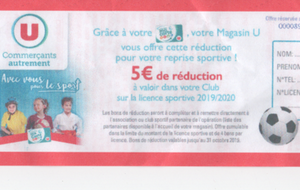 OPERATION COUPON HYPER U  LICENCE SPORTIVE